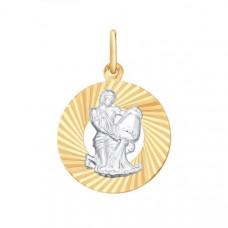 Подвеска «Водолей» из золота без вставки арт.031375