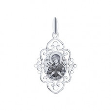 Иконка Божьей Матери Семистрельная из серебра арт. 94100253