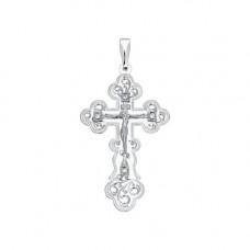 Крестик из серебра с фианитами арт. 94120004