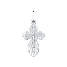 Крестик из серебра без вставки арт. 94120128
