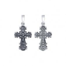 Крестик из черненого серебра без вставки арт. 95120055