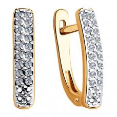 Серьги из золота с бриллиантами арт.1021306
