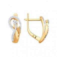 Серьги из золота с бриллиантами арт.1020594