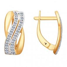 Серьги из золота с бриллиантами арт.51-220-00006-1