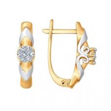 Серьги из золота с бриллиантами арт.1020991