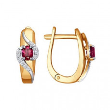 Серьги из золота с рубинами и бриллиантами арт.4020361