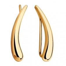 Серьги каффы из золота без вставки арт.028561
