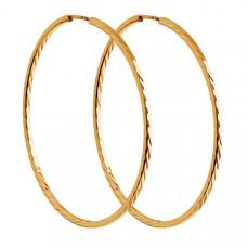 Серьги конго из золота без вставки арт.140069