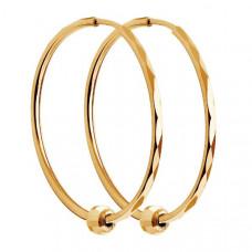 Серьги конго из золота без вставки арт.140124