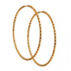Серьги конго из золота без вставки арт.140156
