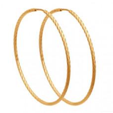 Серьги конго из золота без вставки арт.140147
