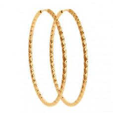 Серьги конго из золота без вставки арт.140154