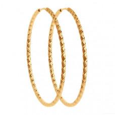 Серьги конго из золота без вставки арт.140153
