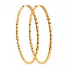 Серьги конго из золота без вставки арт.140155