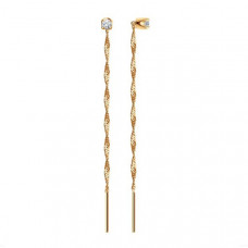 Серьги из золота с фианитами арт.020610