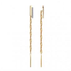 Серьги из золота с фианитами арт.51-123-00744-1
