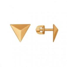 Серьги пусеты из золота без вставки арт.026985