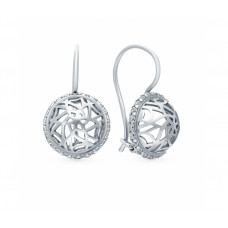 Серьги из серебра с фианитами арт. 48401А.5