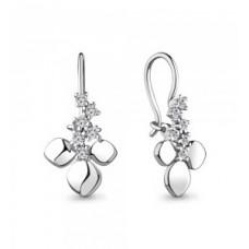 Серьги из серебра с фианитами арт. 48757А.5