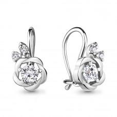 Серьги из серебра с фианитами арт. 48781А.5
