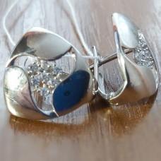 Серьги из серебра с фианитами арт. С-3672-Р