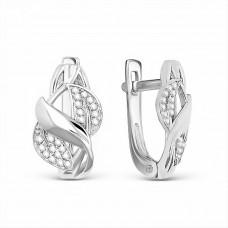 Серьги из серебра с фианитами арт. С1385р200