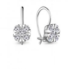 Серьги из серебра с фианитами арт. 48649А.5