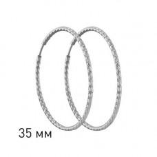 Серьги конго из серебра без вставок арт. 94140032