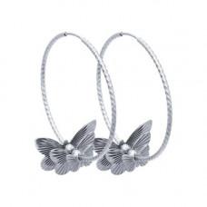 Серьги конго из серебра без вставок арт. 94140038