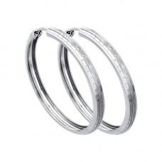 Серьги конго из серебра без вставок арт. 94140066