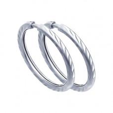 Серьги конго из серебра без вставок арт. 94140069