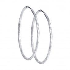 Серьги конго из серебра без вставок арт. 94140083