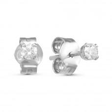 Серьги пусеты из серебра с фианитами арт. 3389672Д